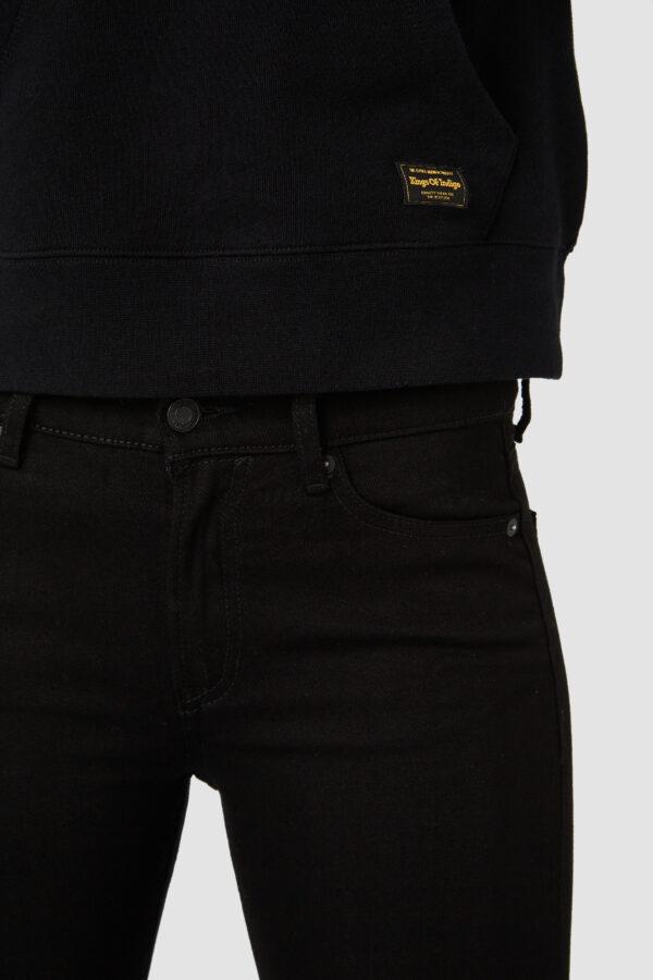 King of Indigo K.O.I Bio Jeans JUNO HIGH Stay black Rinse D K111101102 6118 scaled