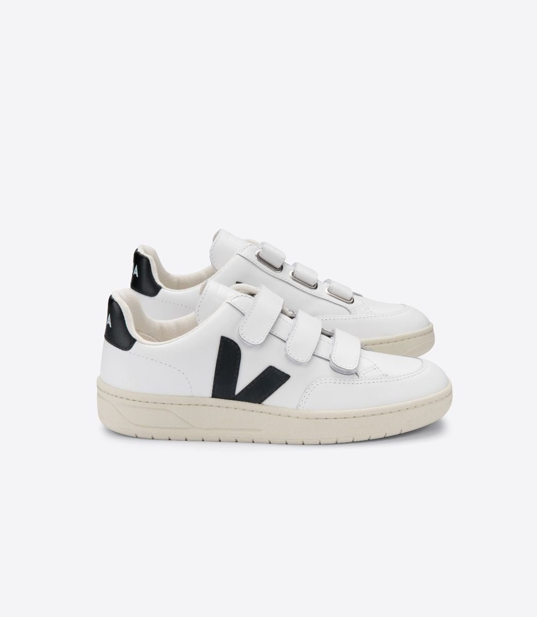Veja Sneakers V LOCK LEATHER EXTRA WHITE BLACK 1