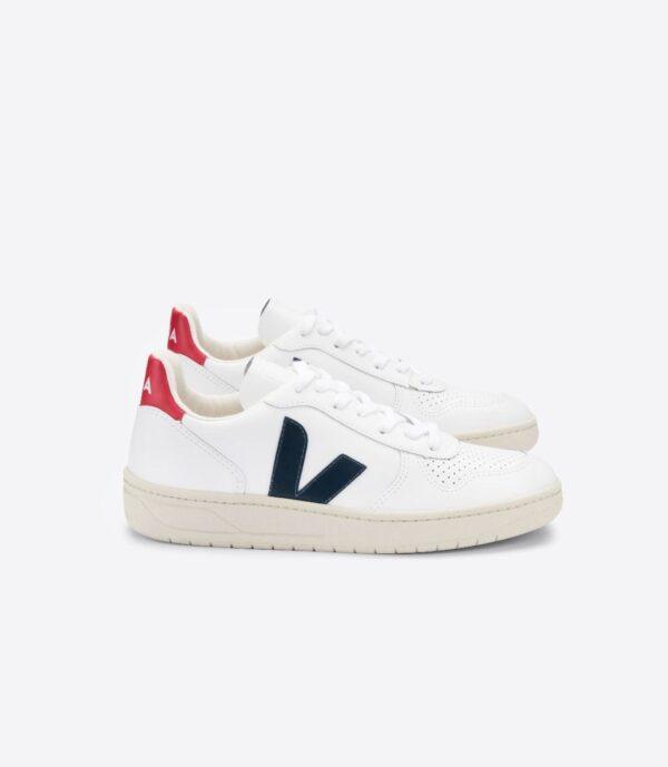 Veja shoes V 10 EXTRA WHITE NAUTICO PEKIN1