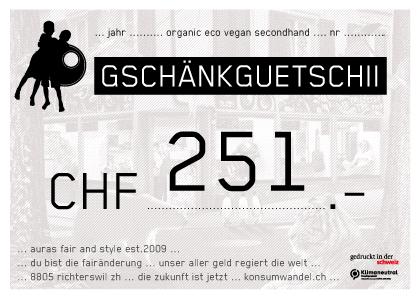 251.Gutschein