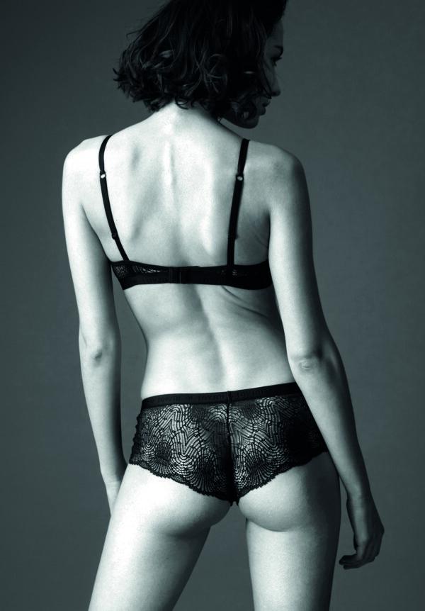 Panty FLOWERING FERN Black 4555 3