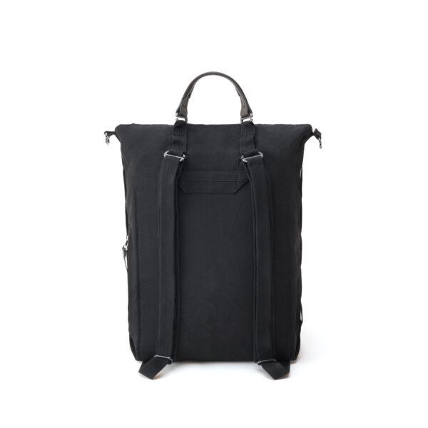 qwstion bananatex zip pack all black back shopper
