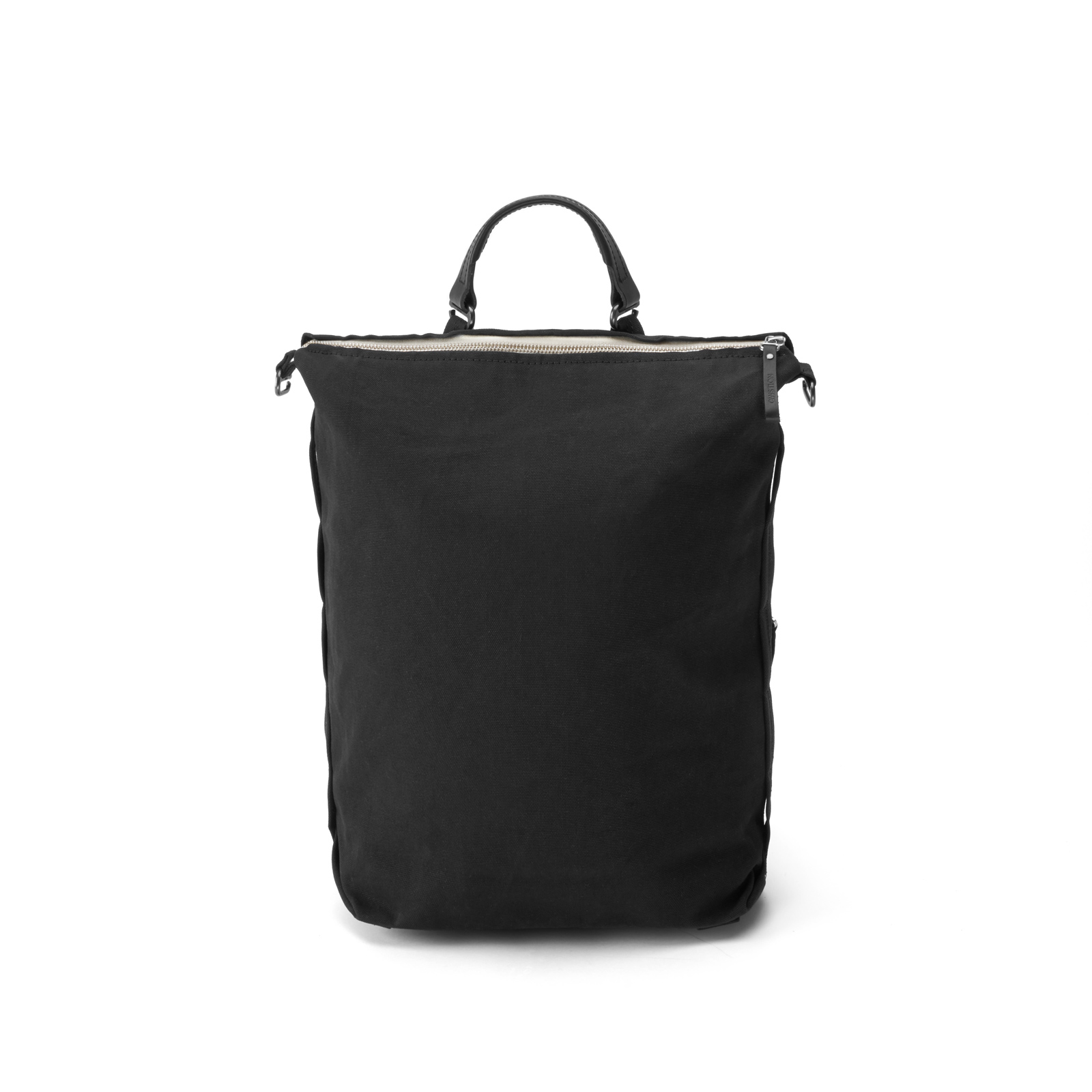qwstion bananatex zip pack all black front shopper