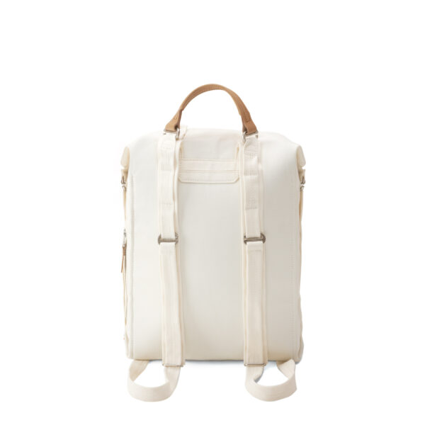 qwstion bananatex zip pack natural white back backpack