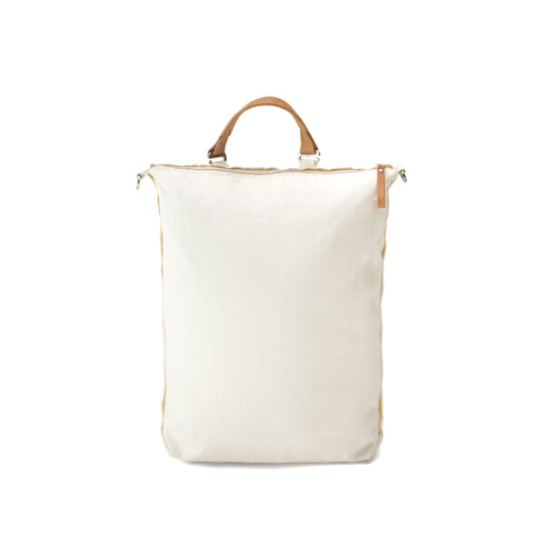 qwstion bananatex zip pack natural white front shopper
