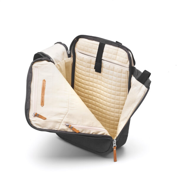 qwstion daypack organic washed black open