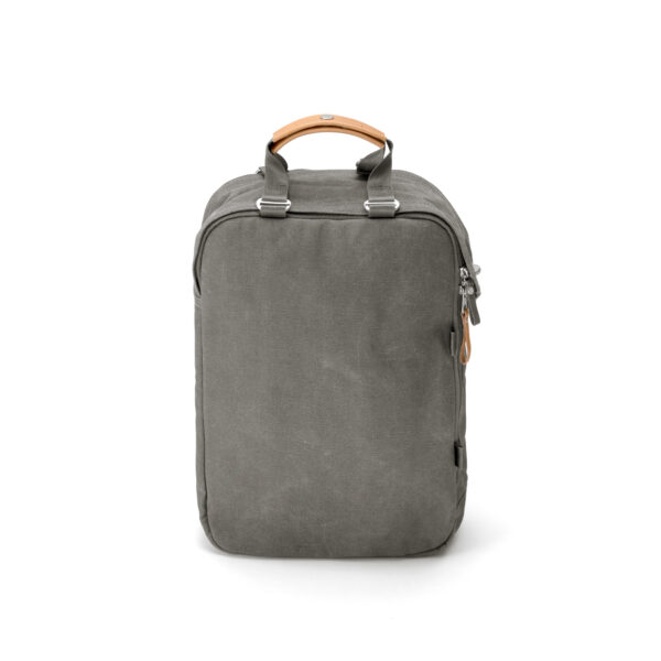 qwstion daypack organic washed grey front