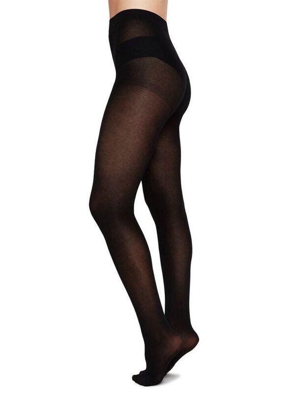 stina premium bio cotton tights black premium stockings swedish stockings s