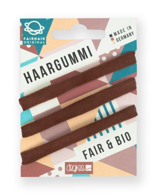 Haargummi Fair Hair braun VE 12 Tray